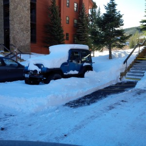 Junk Jeep left parked at Mountain Side Building  B for months.  May belong to former HOA Board President.
